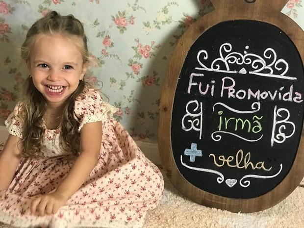 Mariana Bridi anunciou a gravidez com foto da filha, Aurora (Foto: Reprodução/Instagram)