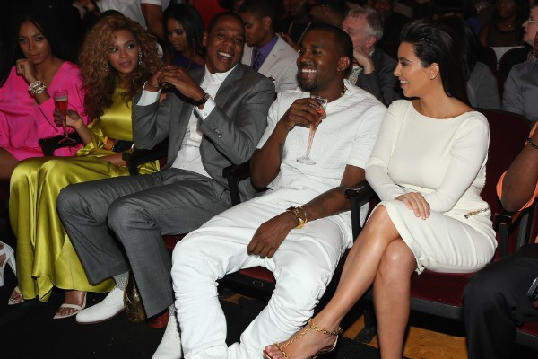 Beyonce, Jay-Z, Kanye West e Kim Kardashian (Foto: Getty Images)
