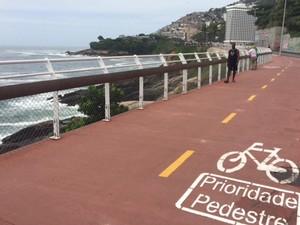 Ciclovia da Niemeyer é inaugurada (Foto: Matheus Rodrigues/G1 Rio)