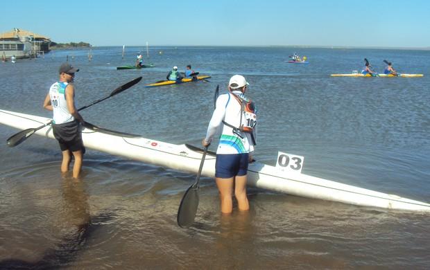 Praia da Graciosa recebe Campeonato Brasileiro de Canoagem (Foto: Marcos Martins/G1)