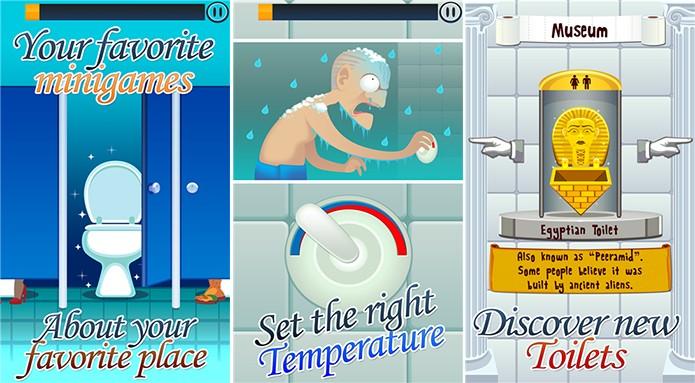 Toilet Time é um divertido jogo para WIndows Phone repleto de mini games engraçados (Foto: Divulgação/Windows Phone Store)