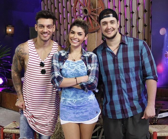 Lucas Lucco, Ana Paula Guedes e Bruno Boncini (Foto: Fabiano Battaglin / Gshow)