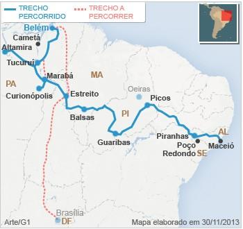 Mapa Bye Bye Belém (PA)