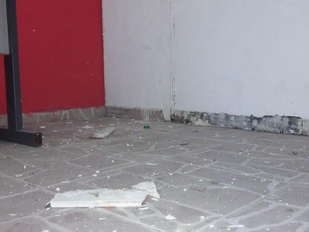 Danos ao imóvel do PT após explosão de bomba em SP (Foto: Divulgação/PT-SP)