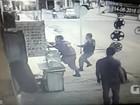 Vídeos mostram troca de tiros durante assalto a banco na Grande Natal
