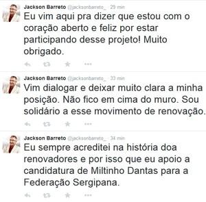 Jackson Barreto, eleições, FSF (Foto: Reprodução/Twitter)