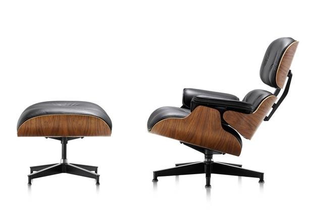 poltrona e o pufe Charles Eames (Foto: Divulgação)