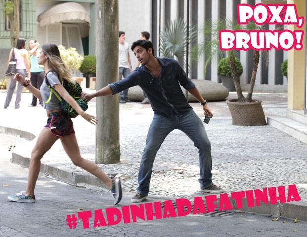 Fatinha sai bolada e deixa Bruno sozinho na rua (Foto: Malhação / TV Globo)