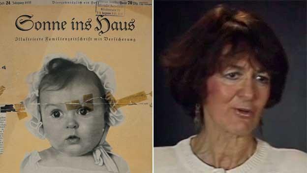 Hessy Taft na capa da revista e hoje: sua família fugiu dos nazistas na Alemanha e se estabeleceu nos EUA (Foto: Museu do Holocausto / Via BBC)