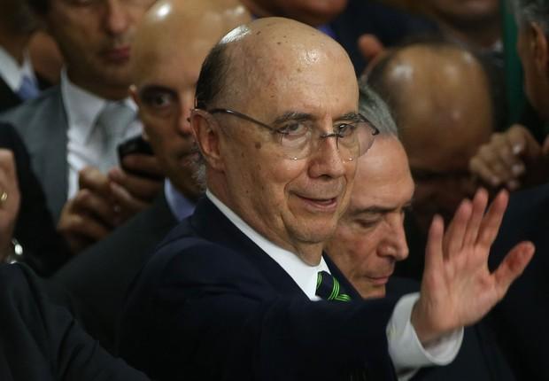 O economista Henrique Meirelles toma posse como ministro da Fazenda no governo de Michel Temer (Foto: Marcello Casar Jr/Agência Brasil)