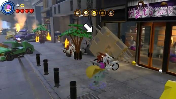Libere a entrada da loja Hats and Wigs para conseguir uma peruca para o Colecionador em LEGO Avengers (Foto: Reprodução/Rafael Monteiro)