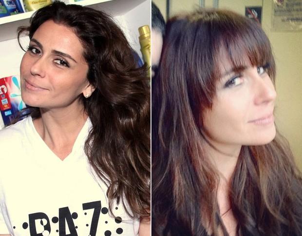 Giovanna Antonelli - antes e depois (Foto: AgNews / Instagram)