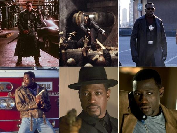 """Wesley Snipes como Blade em """"Blade"""", """"Blade II"""" e """"Blade: Trinity"""" (Foto: Divulgação / Reprodução)"""