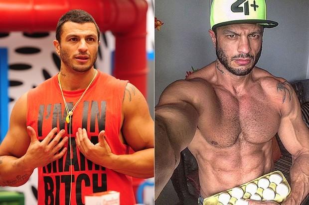 Kleber Bambam perdeu peso e ganhou barriga tanquinho (Foto: TV Globo/Divulgação/Reprodução)