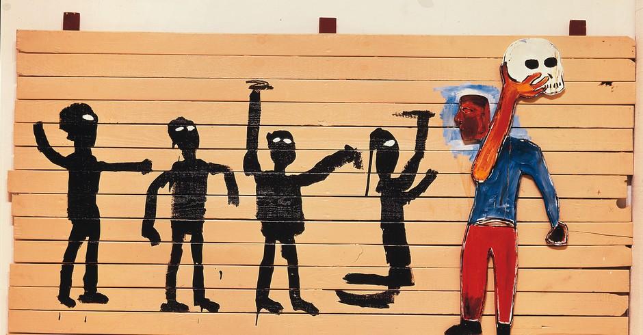 Procession: na obra, Basquiat cria um cenário contundente, que permite leituras ligadas à sua atuação contra o racismo (Foto: Divulgação)