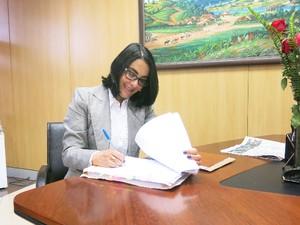Prefeita de Cubatão, Márcia Rosa, fala sobre planos para 2014 (Foto: Rodrigo Martins/ G1)