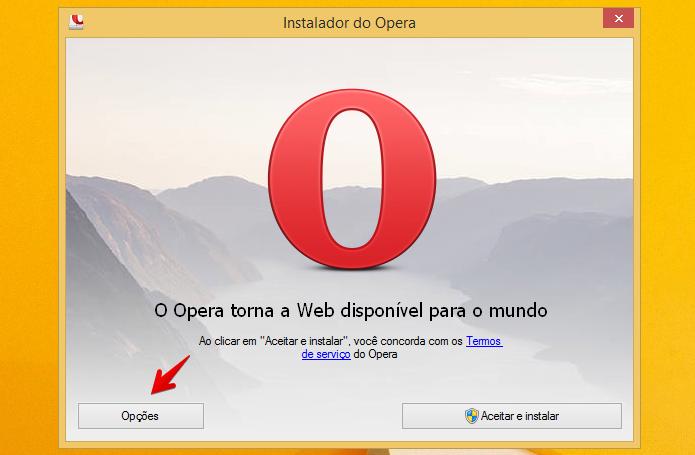 Abra as opções de instalação do Opera (Foto: Reprodução/Helito Bijora)