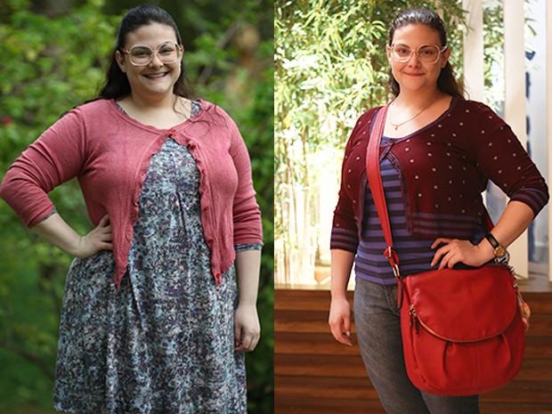 Compare o antes e depois de Raquel Fabbri (Foto: Carol Caminha/Raphael Dias/Gshow)