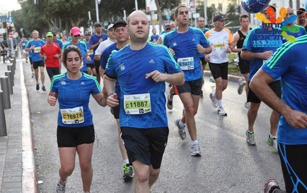 Marcelo Korn meia-maratona de Tel-Aviv  (Foto: Reprodução / Facebook)