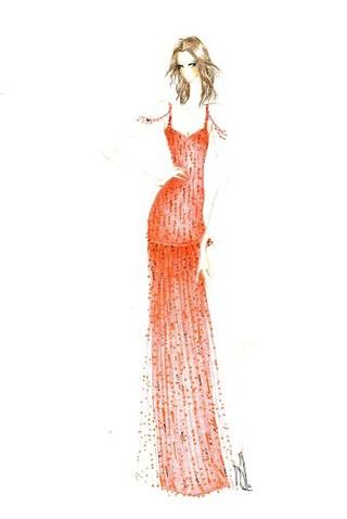 Croqui do vestido de Ivete Sangalo (Foto: Divulgação )