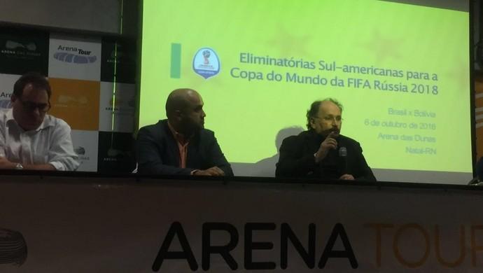 Reunião FNF CBF Arena das Dunas Brasil x Bolívia (Foto: Divulgação)