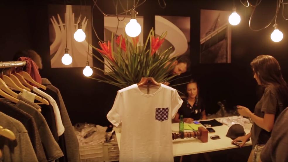 Artistas e marcas locais expõe roupas em estandes no Picnik, em Brasília (Foto: Reprodução)