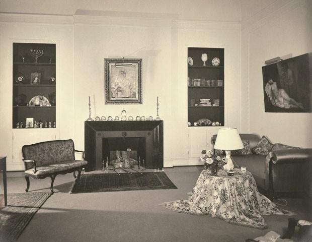 Sala íntima do Solar (quarto do casal), atualmente sala de exposição temporária (Foto: Acervo Fundação Crespi Prado)
