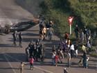 Grande BH - 8h: Manifestantes bloqueiam trânsito na BR-040