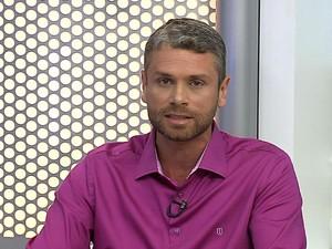 Rodrigo Drable, candidato a prefeito de Barra Mansa, participa de entrevista no RJTV (Foto: Reprodução/TV Rio Sul)