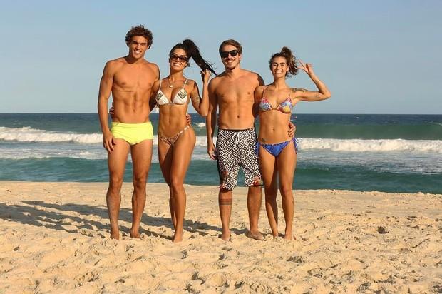 Felipe Roque, Aline Riscado, Pedro Lisboa e Natascha Rotta (Foto: Reprodução/Instagram)