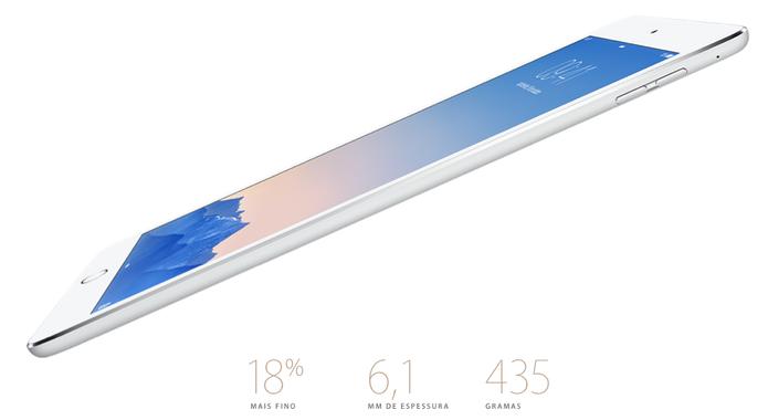 iPad Air 2 é o mais fino de todos os iPads já produzidos pela Apple (Foto: Divulgação/Apple)