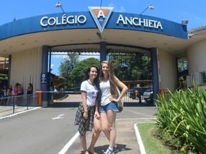 Alunas diziam que assunto tomou conta do colégio (Foto: Rafaella Fraga/G1)