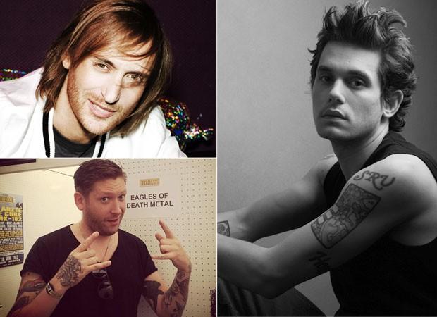 David Guetta, Chris Hayden e John Mayer (Foto: divulgação)