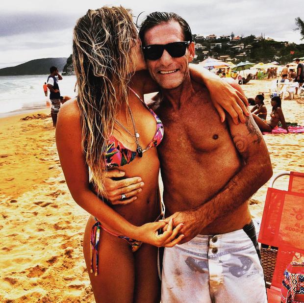 Livia Lemos com o pai (Foto: Reprodução/Instagram)
