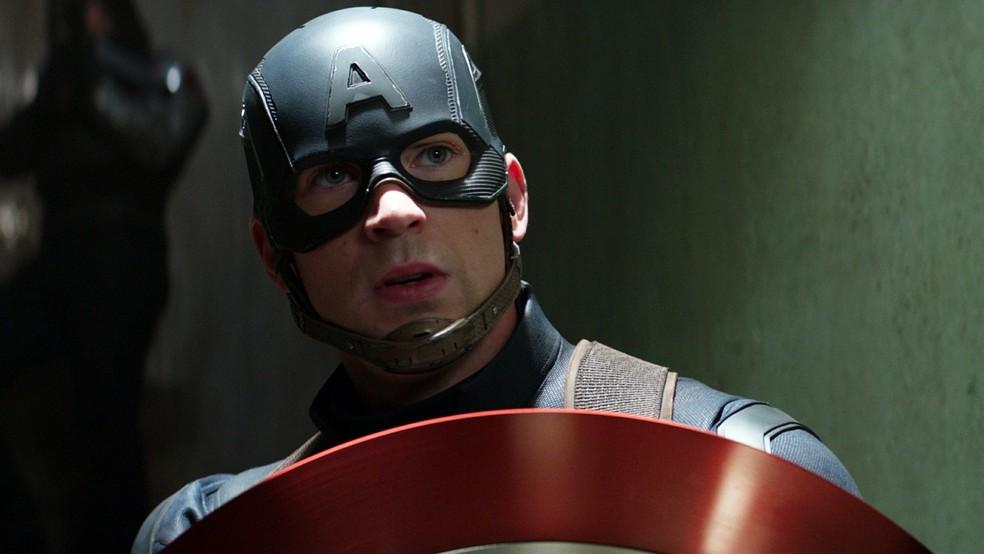 Chris Evans é o Capitão América (Foto: Divulgação)