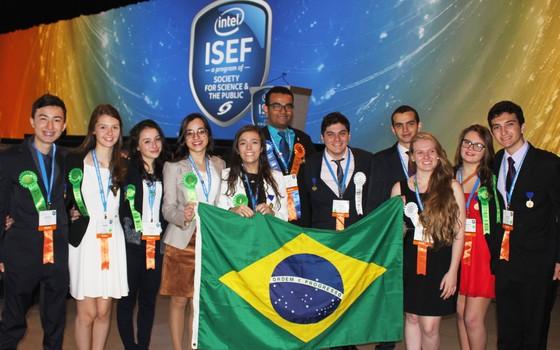 """""""Foi uma honra representar a qualidade científica da nação em um evento dessa magnitude"""", diz o estudante Luiz Fernando Borges (Foto: Society for Science)"""