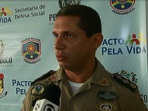 Major Fábio Souza, subcomandante do IV BPM (Foto: Reprodução/ TV Asa Branca)