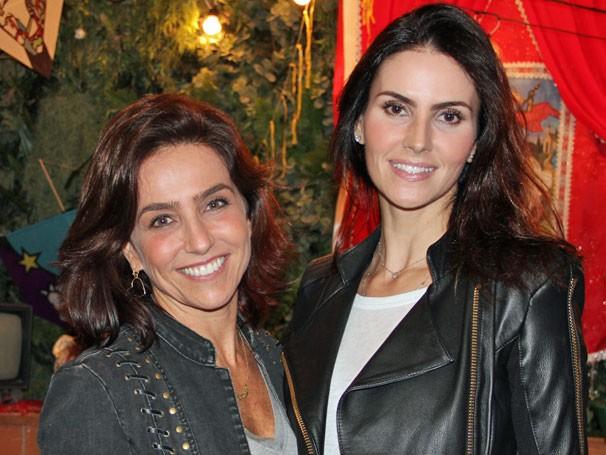Lisandra Souto e Monique Curi (Foto: TV Globo/ Nathalia Fernandes)