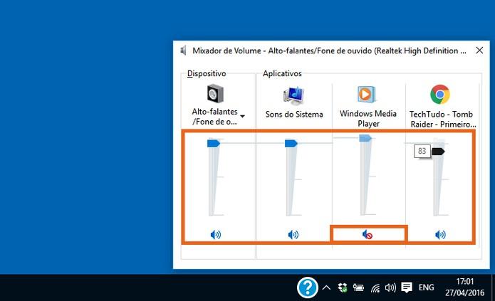 Personalize o volume de som de cada programa no Windows 10 (Foto: Reprodução/Barbara Mannara)