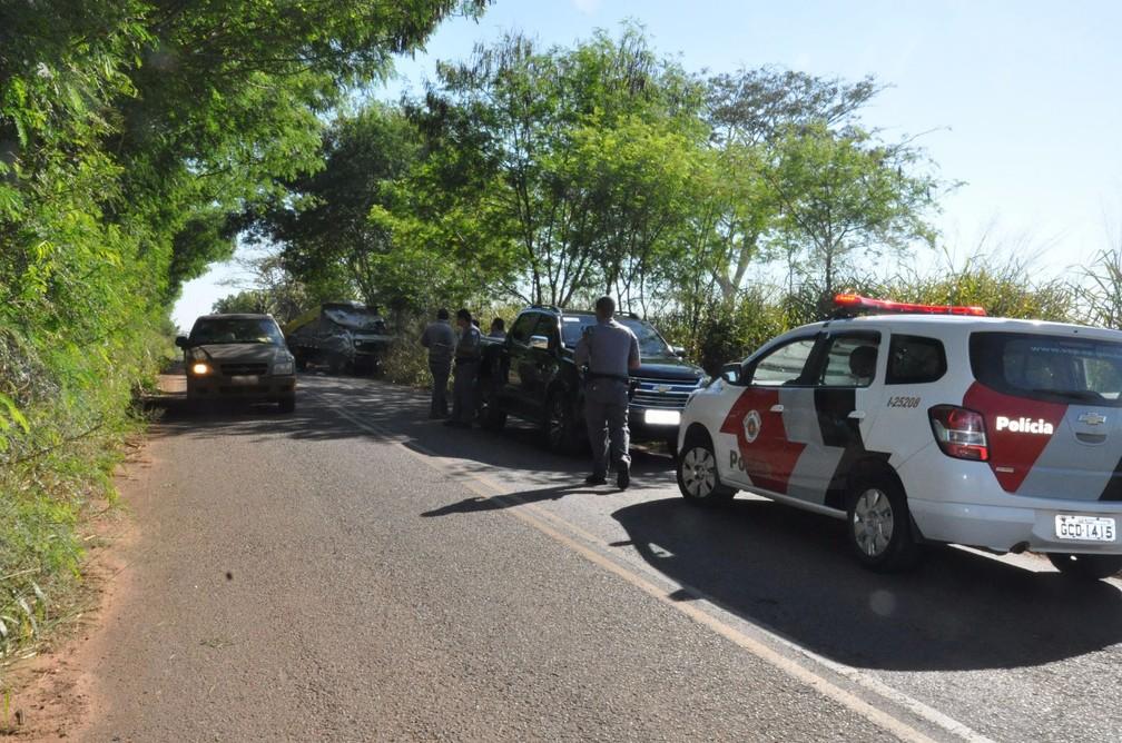 Acidente foi na estrada que liga Pacaembu a Mirandópolis (SP) (Foto: Augusto Santos/O Pacaembuense)