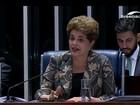 No Senado, Dilma volta a defender plebiscito sobre novas eleições