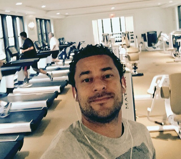 Fred em academia durante as férias (Foto: Reprodução / Instagram)