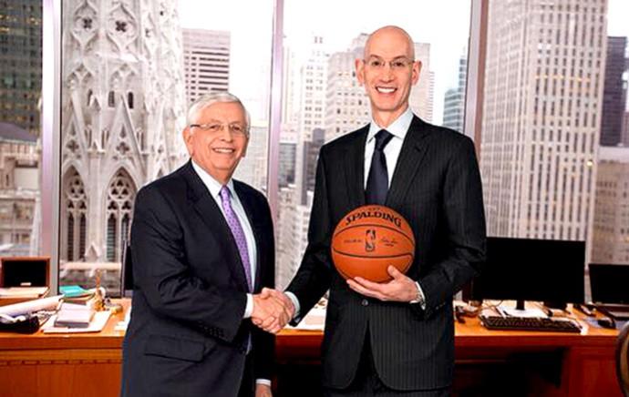 Adam Silver, novo comissão da NBA (Foto: Reprodução / Twitter)