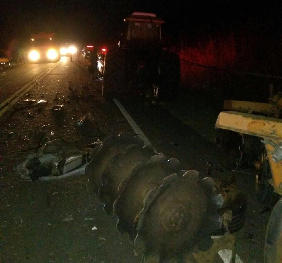 Acidente aconteceu TO-342 entre Miranorte e Miracema (Foto: Divulgação)