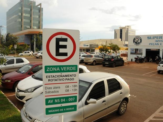 Zona verde do estacionamento rotativo entra em funcionamento a partir desta quarta-feira (1º) (Foto: Valério Zelaya/Prefeitura de Palmas)