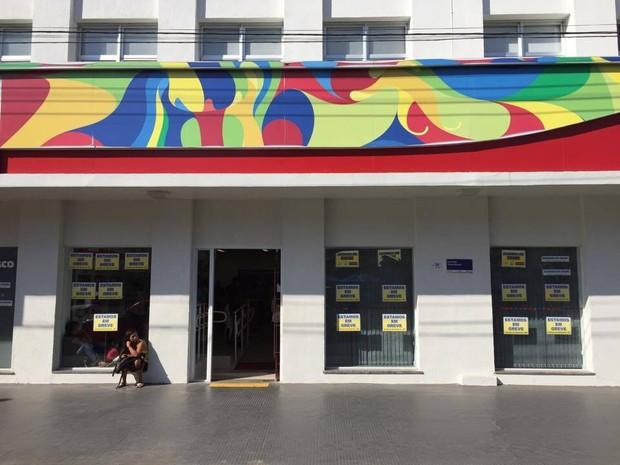 Greve dos bancários completa 19 dias em Roraima (Foto: Inaê Brandão/G1 RR)