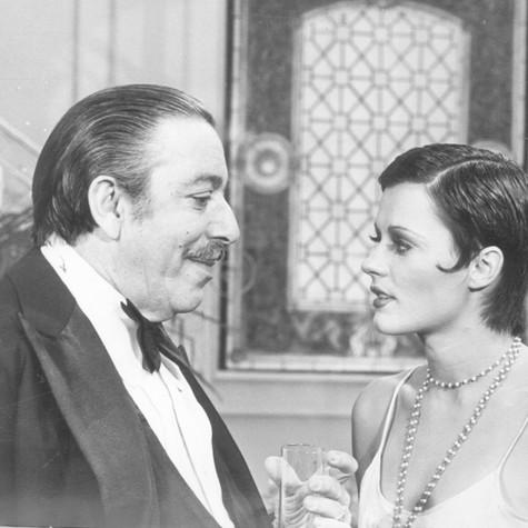 José Lewgoy e Bete Mendes em cena da novela 'O rebu' (Foto: Arquivo)