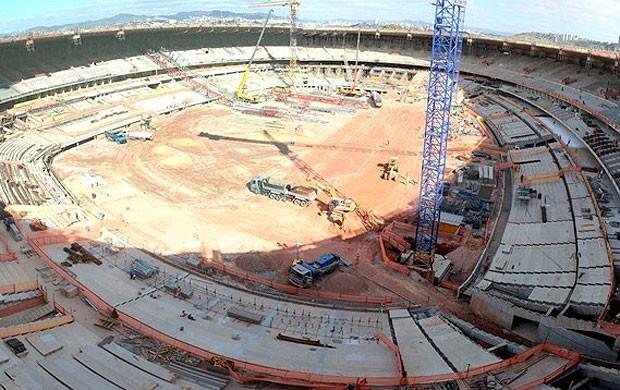 Obras Mineirão, Belo Horizonte (Foto: Divulgação / Site oficial da Fifa)