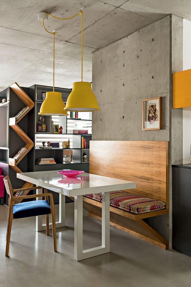 Cor na decora o apartamento pequeno mistura rosa azul e for Mesas para apartamentos pequenos