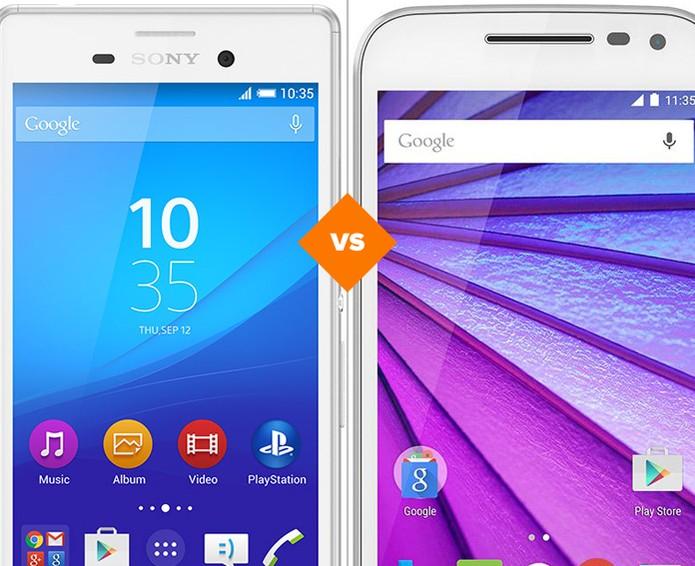 Xperia M4 Aqua vs Moto G 3: veja qual celular à prova d'água é o melhor (Foto: Arte/TechTudo)